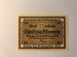 Allemagne Notgeld Berga 50 Pfennig - Collections
