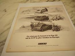 ANCIENNE PUBLICITE VOITURE 127  DE FIAT 1975 - Cars