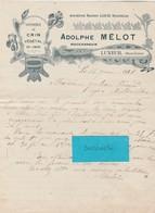 Facture 1921 / Adolphe MELOT / Commerce Crin Végétal / Entête Art Nouveau / 70 Luxeuil - France