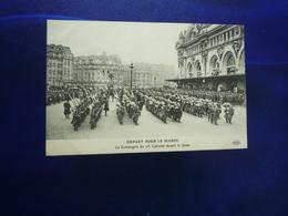 PARIS  DEPART POUR LE MAROC LA COMPAGNIE DU 23° COLONIAL DEVANT LA GARE  BON ETAT - Autres