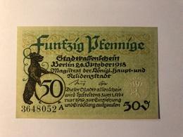 Allemagne Notgeld Berlin 50 Pfennig - Collections