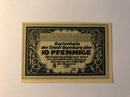 Allemagne Notgeld Bernburg 10 Pfennig - Collections