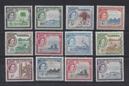 GAMBIA..QUEEN ELIZABETH II.(1952-NOW)..SET OF 15....MH..... - Gambia (...-1964)
