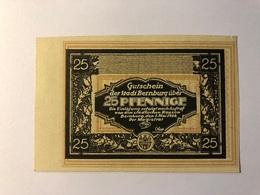Allemagne Notgeld Bernburg 25 Pfennig - Collections