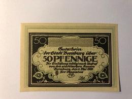 Allemagne Notgeld Bernburg 50 Pfennig - Collections