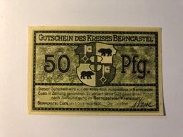 Allemagne Notgeld Berncastel 50 Pfennig - Collections
