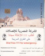 EGYPT - Sphinx And Pyramids(matt Surface), No Telecom Logo, Telecom Egypt Telecard 15 L.E., CN : 000, Chip GEM 3.3, Used - Egypt