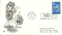 United Nations New York 1970 >> Baltimore MD USA - New-York - Siège De L'ONU