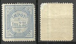 IMPOT Frcs 2.35 Unknown Revenue Tax Stamp MNH But A Bit Damaged Upper Left Corner - Erinnophilie