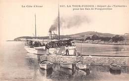 Hyères (83) - La Tour Fondue - Départ Du Tartarin Pour Les îles De Porquerolles - Hyeres