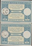 S. VIETNAM  2 Reply Coupon Reponse 7 Piastres  Cachet  SAIGON + DANANG     Réf.CP - Viêt-Nam