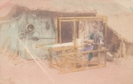 Japanese Woman Weaving At Loom, Unknown Location Japan, C1900s/10s Vintage Postcard - Unclassified
