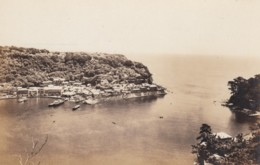 Izu Ohsima Japan, View Of Town On Coast With Bay, C1930s Vintage Real Photo Postcard - Japan