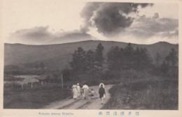 Mt. Asama Volcano Shinshu Honshu Island, C1910s/30s Vintage Postcard - Japan