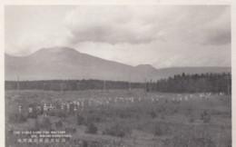 Mt. Asama Volcano Eruption, Minami-Karuizawa Tableland Military Exercises, C1930s Vintage Postcard - Japan