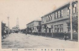 Takara School, Unknown Location In Japan, Street Scene C1900s Vintage Postcard - Japan