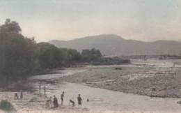 Toyohira River Hokkaido Japan, 'A Summer Scene' Children Play Fish In River, C1900s Vintage Postcard - Japan