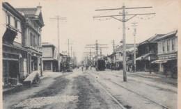 Suyehirocho Street Scene Japan, Street Car, Signs, C1900s/10s Vintage Postcard - Japan