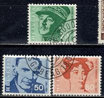 CH+ Schweiz 1969 Mi 907 909-10 Porträts - Switzerland