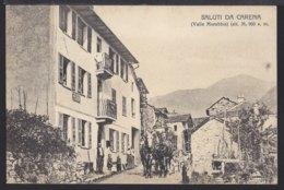 Saluti Da Carena  - Diligenza - Diligence - Postkutsche - 1916 - TI Tessin