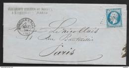 Meuse-Lettre-Petit Chiffre 2103 De Montiers Sur Saulx Sur N° 14A - Marcophilie (Lettres)