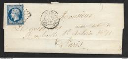 Morbihan-Lettre-Losange Petit Chiffre-Cachet à Date De Napoléonville-N°14A - 1849-1876: Période Classique