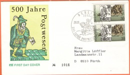 GERMANIA - GERMANY - Deutschland - ALLEMAGNE - 1990 - 2 X 30 500 Jahre Postwesen - Berlin - FDC - Viaggiata Da Berlin Pe - [7] Repubblica Federale