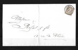 1882 Sitzende Helvetia (gezähnt) → Ortsbrief Genève   ►SBK-44◄ - 1862-1881 Helvetia Seduta (dentellati)