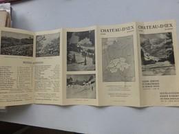 SUISSE Chateau-D'OEX, Dépliant Illustré Vers 1950; L01 - Michelin (guides)