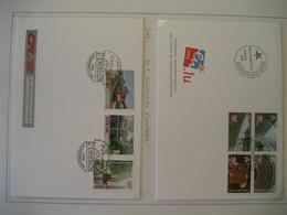 Luxemburg- FDC Beleg Vorsitz In Der EU Mi. 1659-1662, FDC Beleg Elektrifizierung Der Eisenbahn Mi. 1704-1706 - Booklets