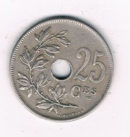 25 CENTIMES  1913 FR   BELGIE /4971/ - 1909-1934: Albert I