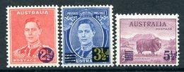 Australia 1941 KGVI Definitive Surcharges Set HM (SG 200-202) - 1937-52 George VI