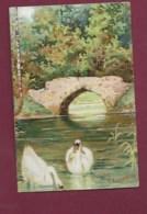 250619A - CHROMO CHOCOLAT AIGUEBELLE - Vue De Paysage : Cygne, Pont - Aiguebelle