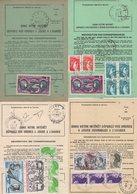 Lot De 4 Ordres De Reexpedition Differents (2 Temporaires + 2 Definitives) - Gironde - Voir Scan - Marcophilie (Lettres)