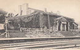 GUELPH, Ontario, Canada, PU-1906; First House In Guelph (now C.P.R. Railroad Station) - Other