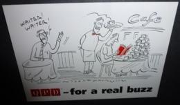 Carte Postale - QPD - For A Real Buzz (café - Bar - Restaurant) Illustration : Robert Thompson - Publicité
