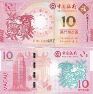 Macao Macau - 10 Patacas 2015 ( 2011 ) Comm. BOC UNC Lemberg-Zp - Macau