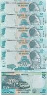 Malawi - 5 Pcs X 50 Kwacha 2016 UNC Lemberg-Zp - Malawi