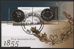 Australien 2005 150 Jahre Australische Münzen Block 56 Gestempelt (C24223) - Blocks & Kleinbögen