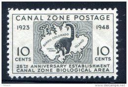 Canal Zone 1948 MNH** Map Coati-Mundi But Demaged Gum To Thin Place Set Of 1 - Postzegels