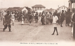 Côte D' Ivoire .  Abidjan . Place Du Marché V. - Côte-d'Ivoire
