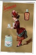 Chromo Kemmerich - Extrait De Viande Bouillon - Fond Or - Doré - Maison C.H. Knorr - Litho V. Liebich & Kuntze - 2 Scans - Chromos
