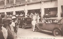 Côte D' Ivoire .  Abidjan . Réception Du Gouverneur . - Côte-d'Ivoire