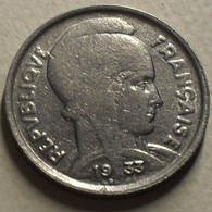 1933 - France - 5 FRANCS, Bazor, Nickel, KM 887, Gad 753 - Francia