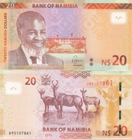 Namibia - 20 Dollars 2015 UNC Lemberg-Zp - Namibia