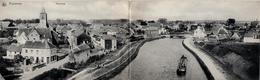 Arquennes Seneffe Belgique - Carte Double Offrant Un Magnifique Panorama - Écrite En 1918 - 2 Scans - Seneffe