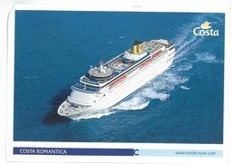 Tematica Navi Costa Romantica  Non Viaggiata Condizioni Come Da Scansione - Passagiersschepen