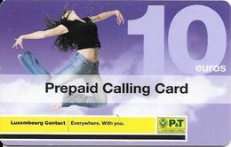 -CARTE-PREPAYEE-LUXEMBOURG--10€-01/01/2009-TBE - Luxembourg