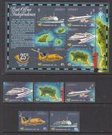 1994 Jersey Postal Independence Transport Ships Aviation  Complete Set Of 5 + S/s MNH @ BELOW FACE VALUE - Jersey