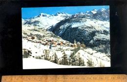 TORGNON Valle D'Aosta : Panorama Invernale Sfondo L'alta Valtournanche - Italia